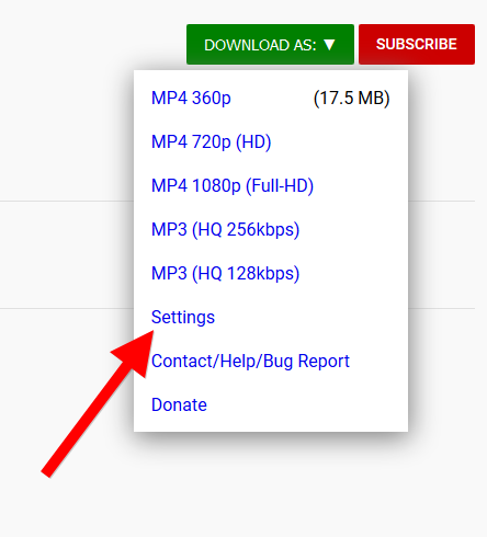 Youtube video downloader for Firefox, Chrome, Safari and Opera