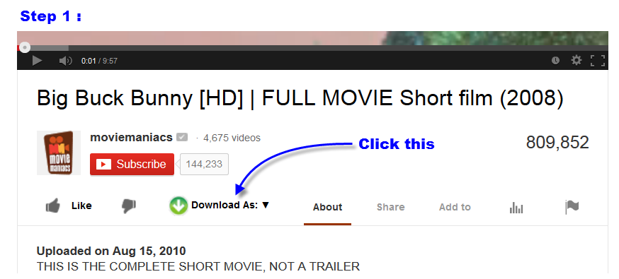 Youtube video downloader instant click click the shown button to start video download ccuart Choice Image
