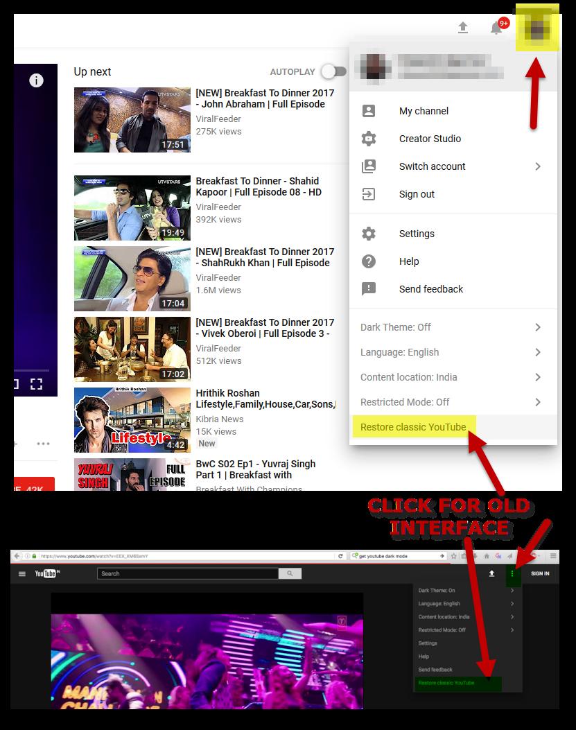 Youtube Layout Updates